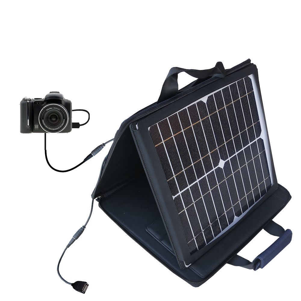 SunVolt Solar Charger compatible with the Kodak P712 and one other device - charge from sun at wall outlet-like speed