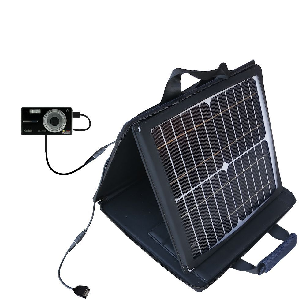 SunVolt Solar Charger compatible with the Kodak V603 V610 and one other device - charge from sun at wall outlet-like speed
