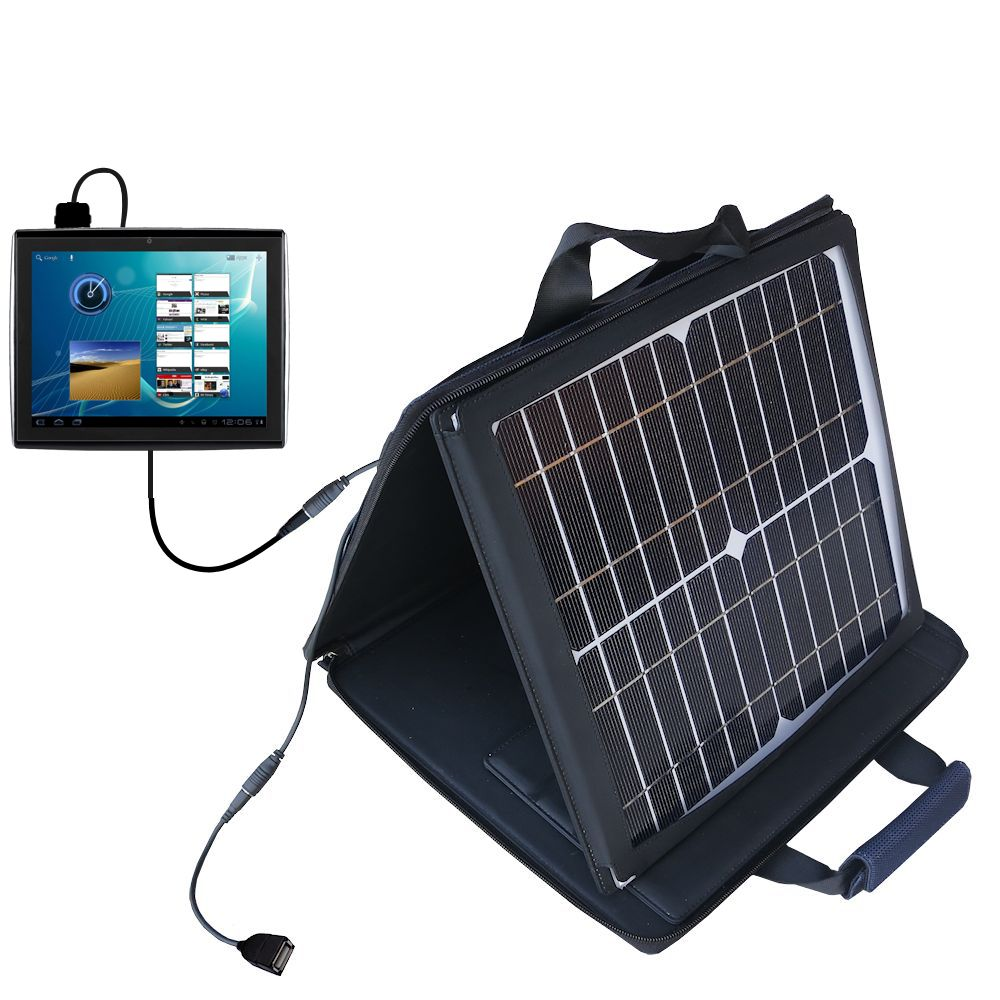 SunVolt Solar Charger compatible with the Le Pan TC979 / Le Pan II  and one other device - charge from sun at wall outlet-like speed