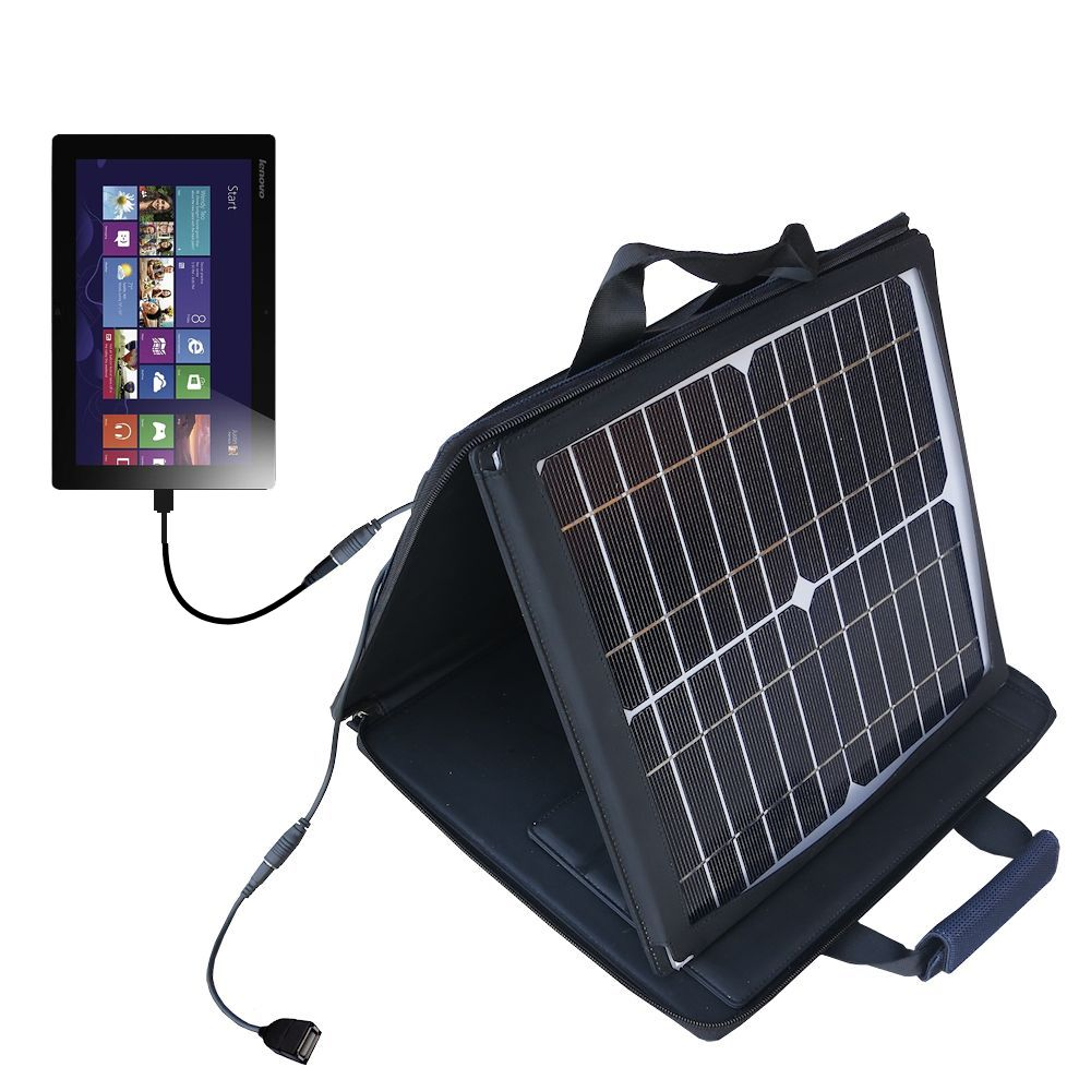 SunVolt Solar Charger compatible with the Lenovo IdeaTab Lynx and one other device - charge from sun at wall outlet-like speed