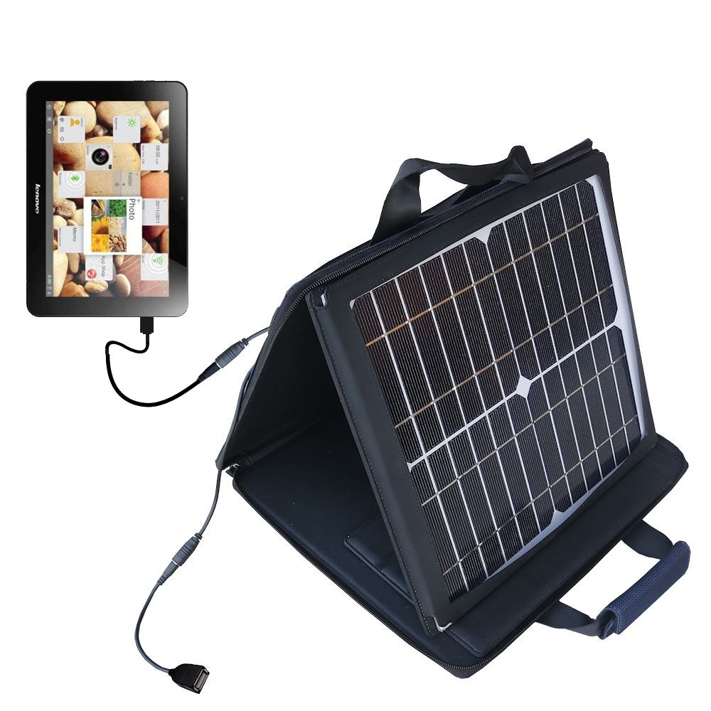 SunVolt Solar Charger compatible with the Lenovo IdeaTab S2110 and one other device - charge from sun at wall outlet-like speed