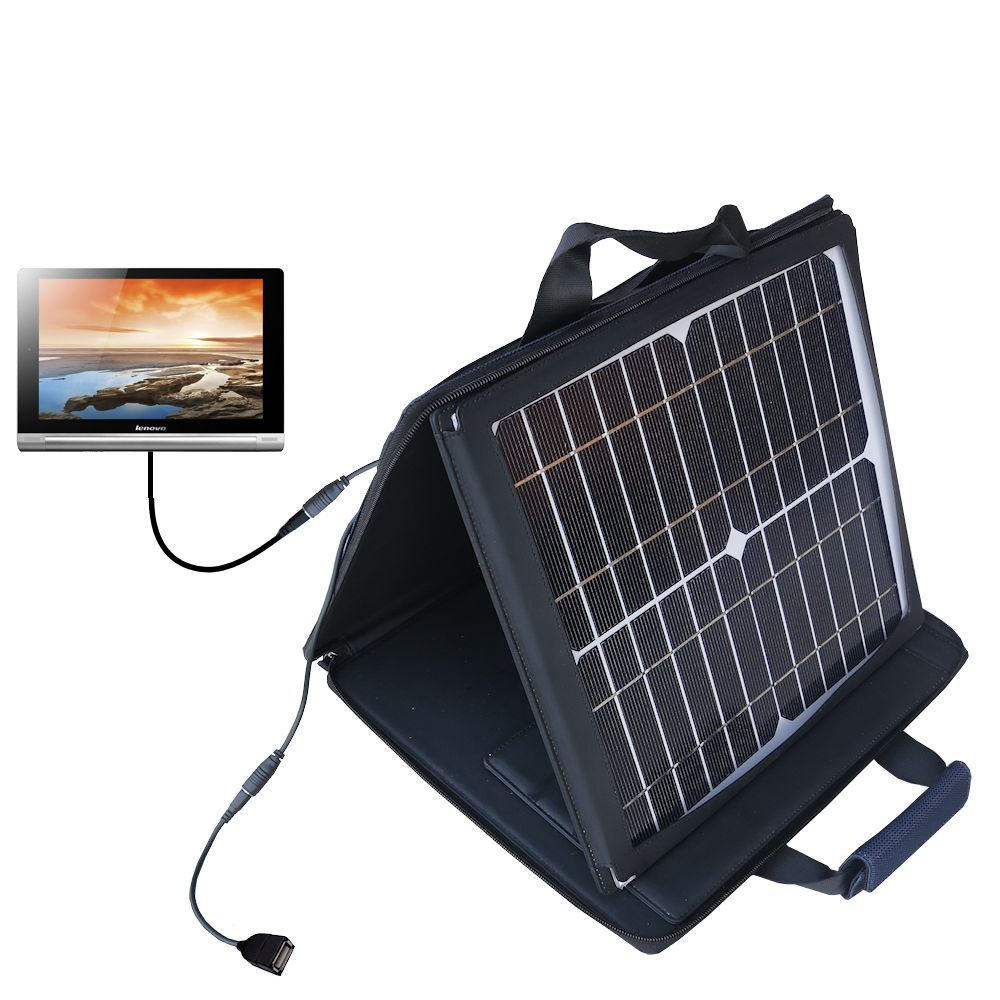 SunVolt Solar Charger compatible with the Lenovo Yoga 8 / Yoga 10 and one other device - charge from sun at wall outlet-like speed