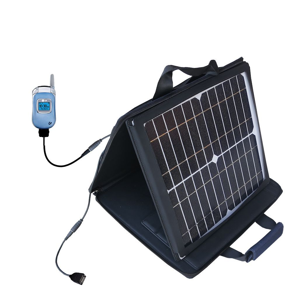 SunVolt Solar Charger compatible with the LG 3450 and one other device - charge from sun at wall outlet-like speed