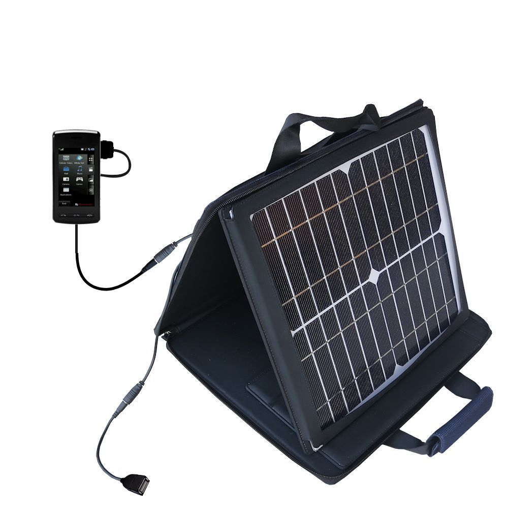 SunVolt Solar Charger compatible with the LG CU920 and one other device - charge from sun at wall outlet-like speed