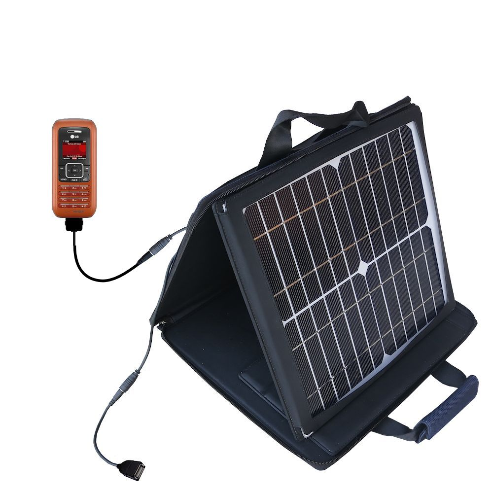 SunVolt Solar Charger compatible with the LG EnV and one other device - charge from sun at wall outlet-like speed