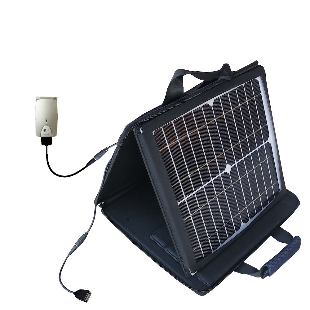 SunVolt Solar Charger compatible with the LG G4010 and one other device - charge from sun at wall outlet-like speed