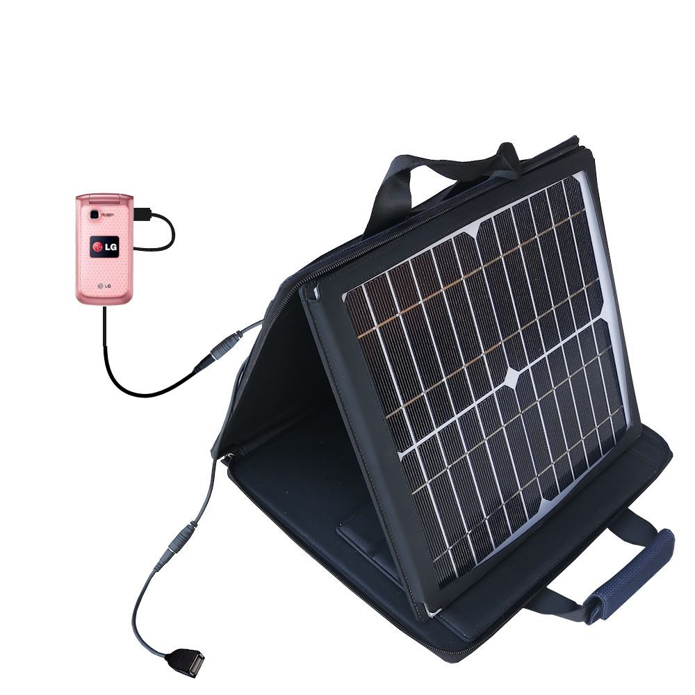 SunVolt Solar Charger compatible with the LG GB220 and one other device - charge from sun at wall outlet-like speed