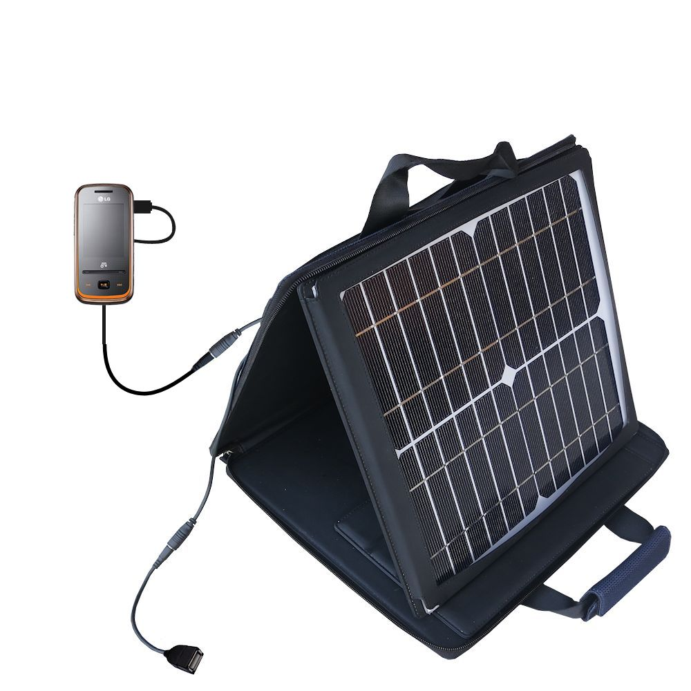 SunVolt Solar Charger compatible with the LG GM310 and one other device - charge from sun at wall outlet-like speed