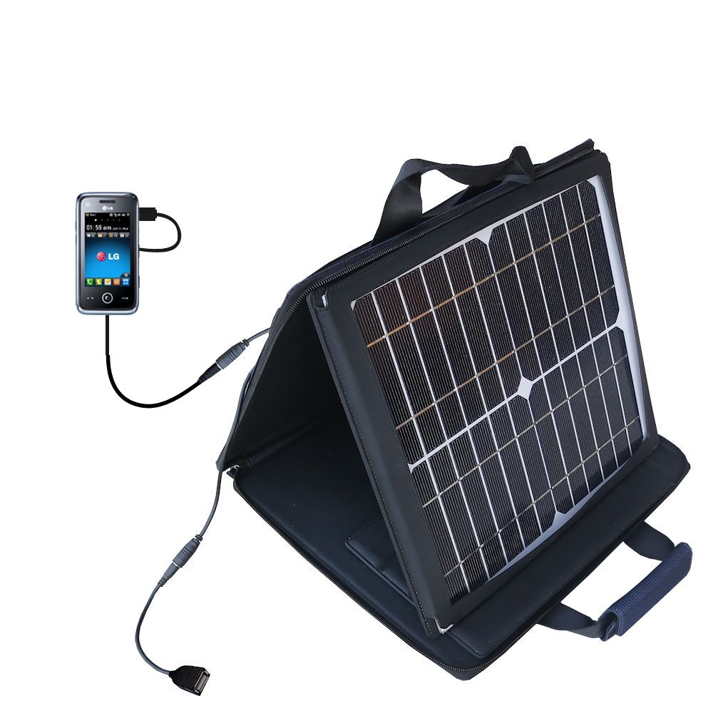 SunVolt Solar Charger compatible with the LG GM730 and one other device - charge from sun at wall outlet-like speed