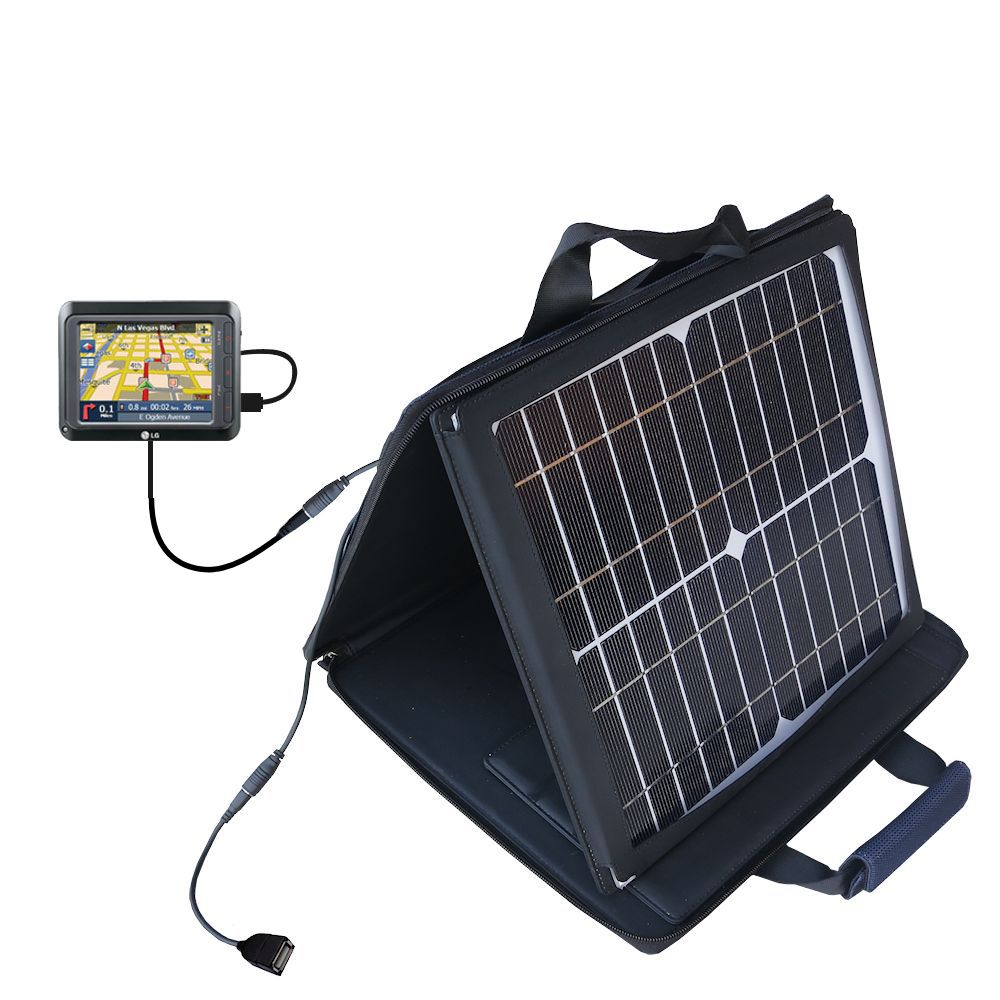 SunVolt Solar Charger compatible with the LG LN740 and one other device - charge from sun at wall outlet-like speed