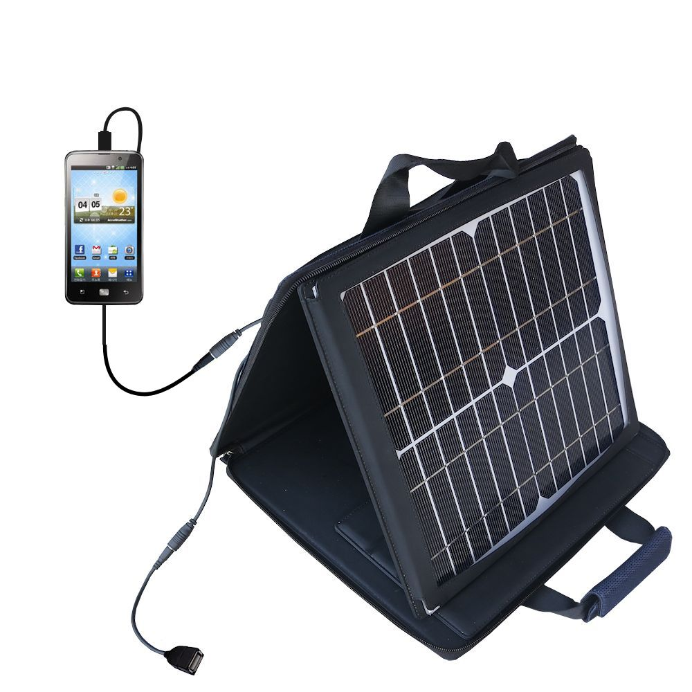 SunVolt Solar Charger compatible with the LG Revolution 2 and one other device - charge from sun at wall outlet-like speed