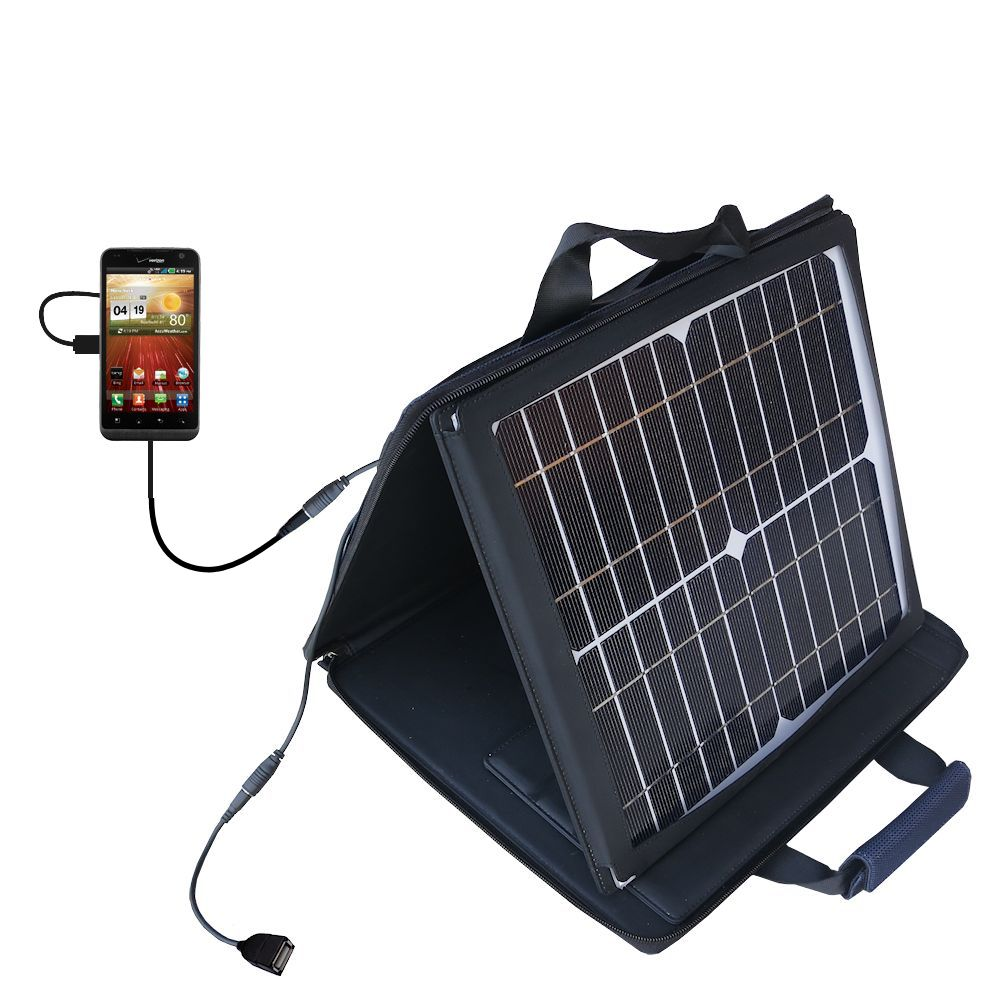 SunVolt Solar Charger compatible with the LG Revolution and one other device - charge from sun at wall outlet-like speed