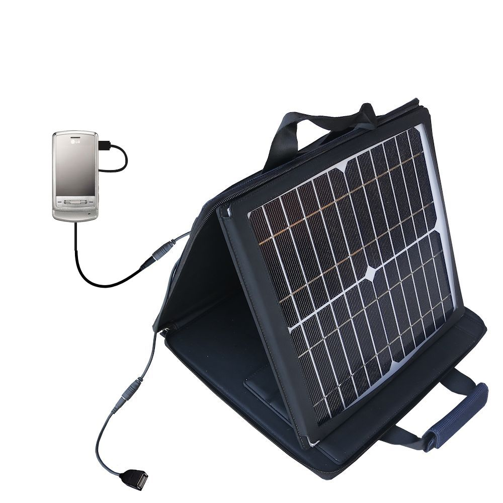 SunVolt Solar Charger compatible with the LG Shine and one other device - charge from sun at wall outlet-like speed
