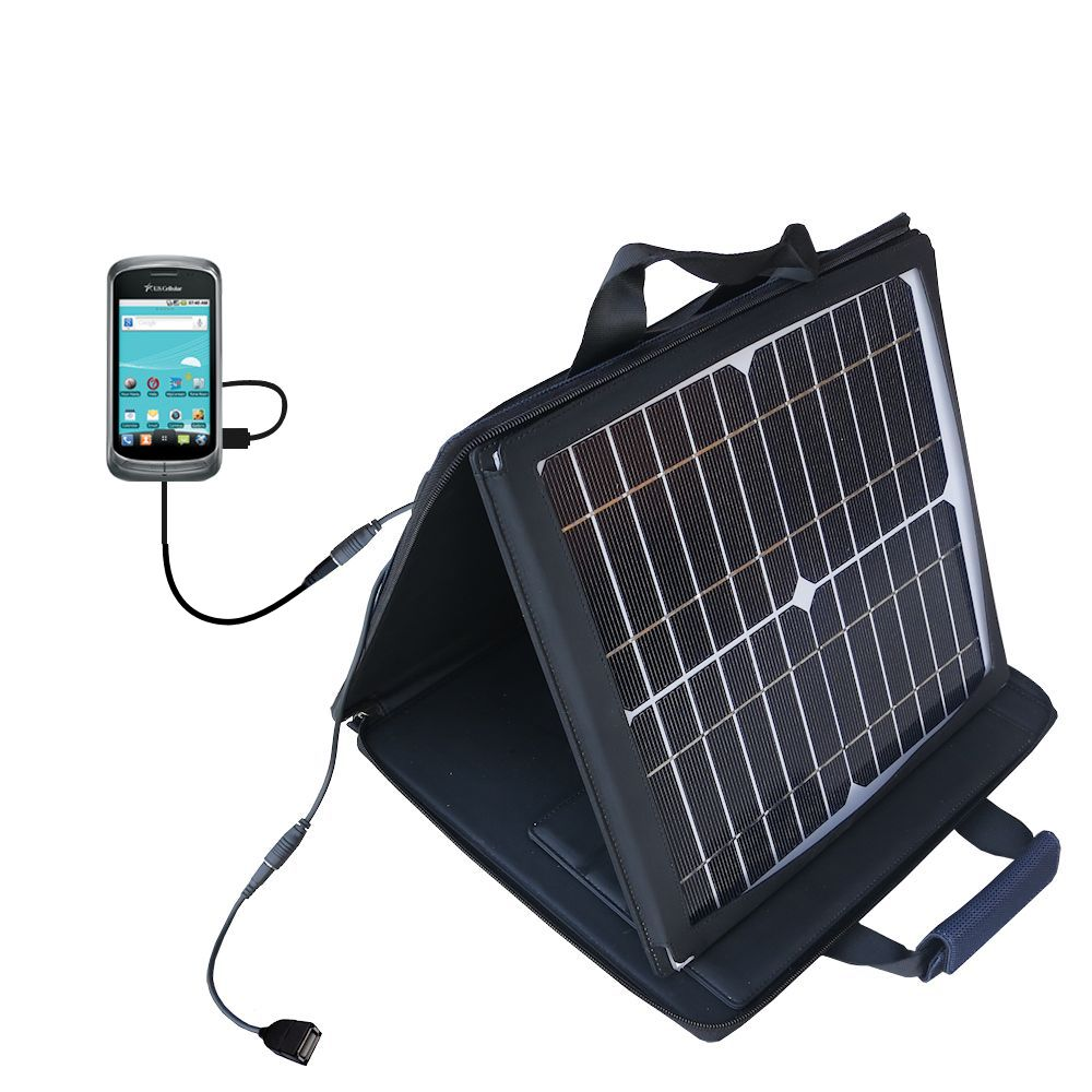 SunVolt Solar Charger compatible with the LG US760 and one other device - charge from sun at wall outlet-like speed