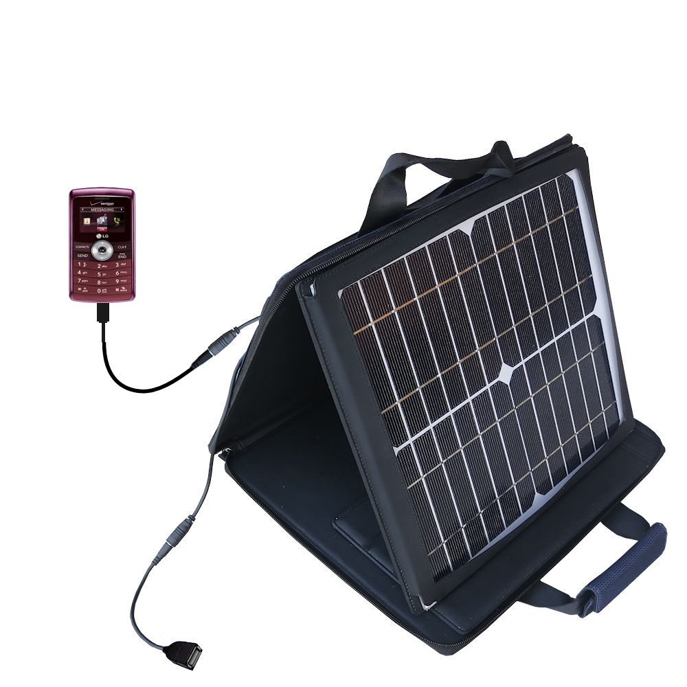 SunVolt Solar Charger compatible with the LG VX9200 and one other device - charge from sun at wall outlet-like speed