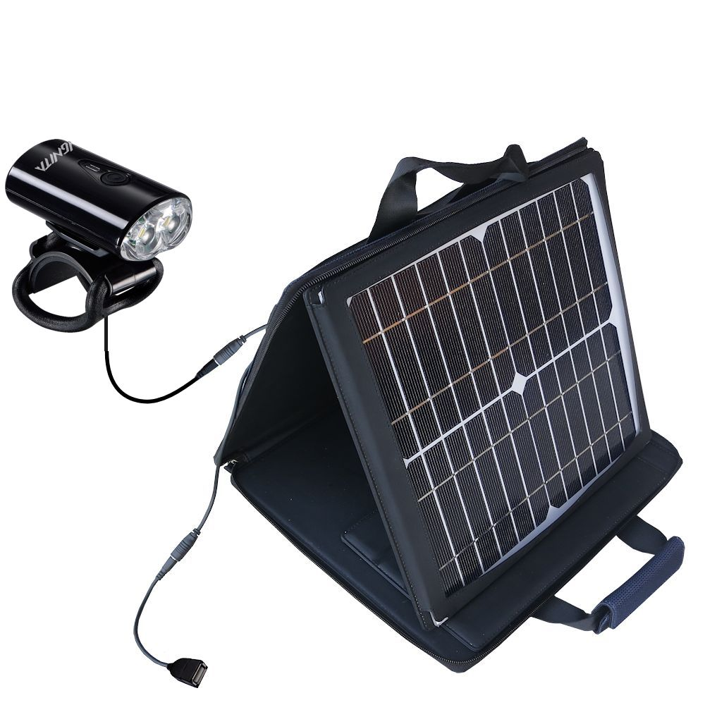 SunVolt Solar Charger compatible with the MetroFlash IGNITA - MF-i650 and one other device - charge from sun at wall outlet-like speed