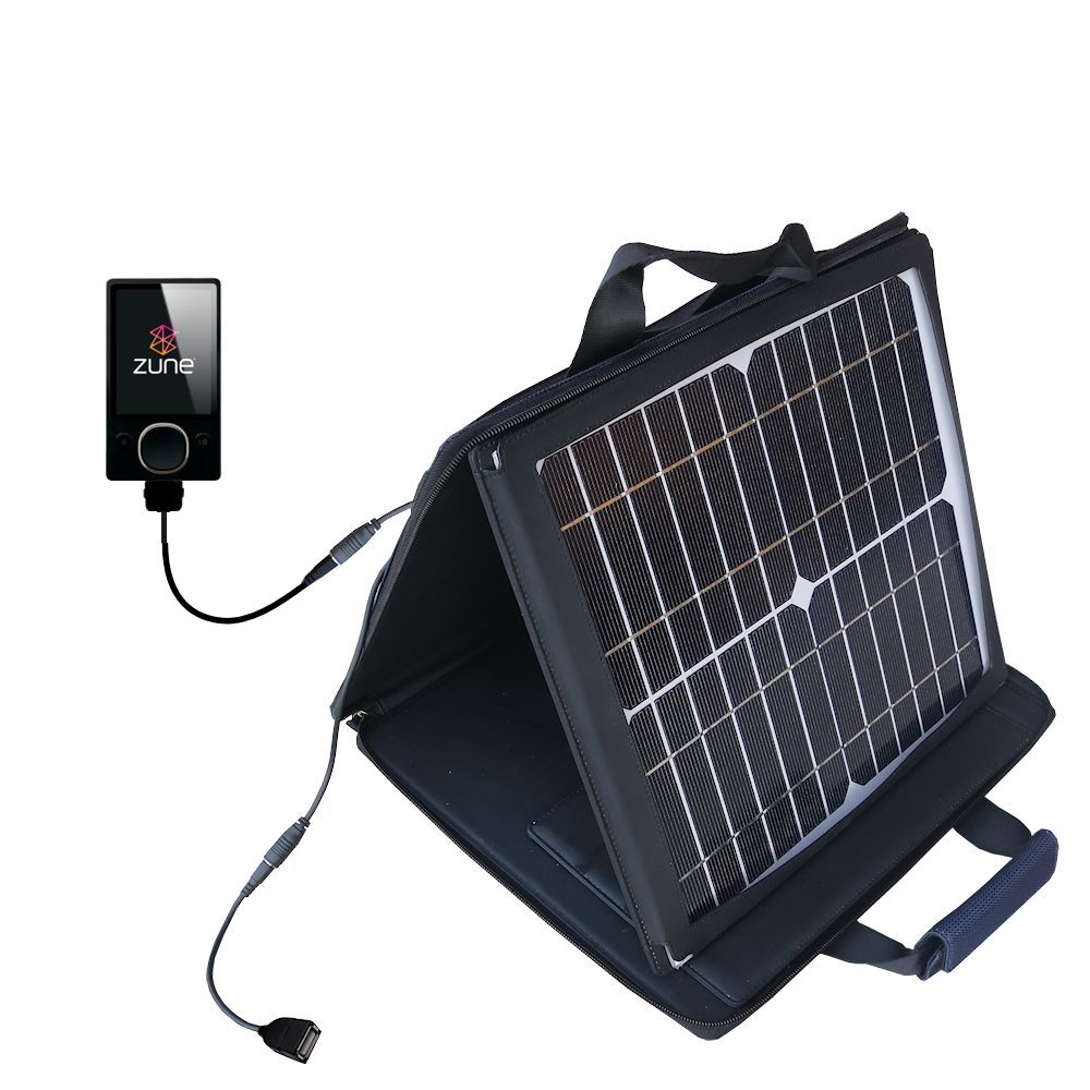 SunVolt Solar Charger compatible with the Microsoft Zune (2nd and Latest Generation) and one other device - charge from sun at wall outlet-like speed