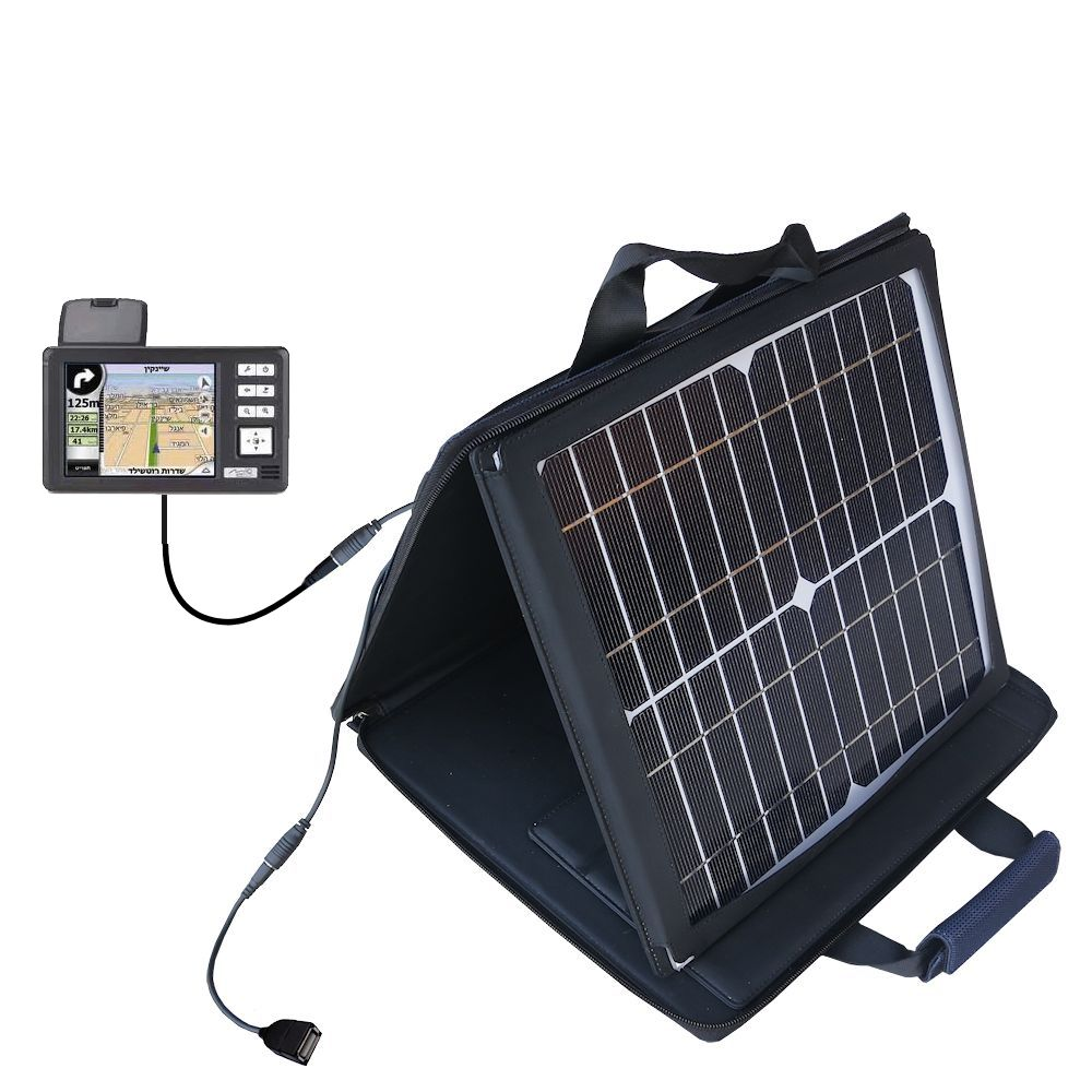 SunVolt Solar Charger compatible with the Mio 169 and one other device - charge from sun at wall outlet-like speed
