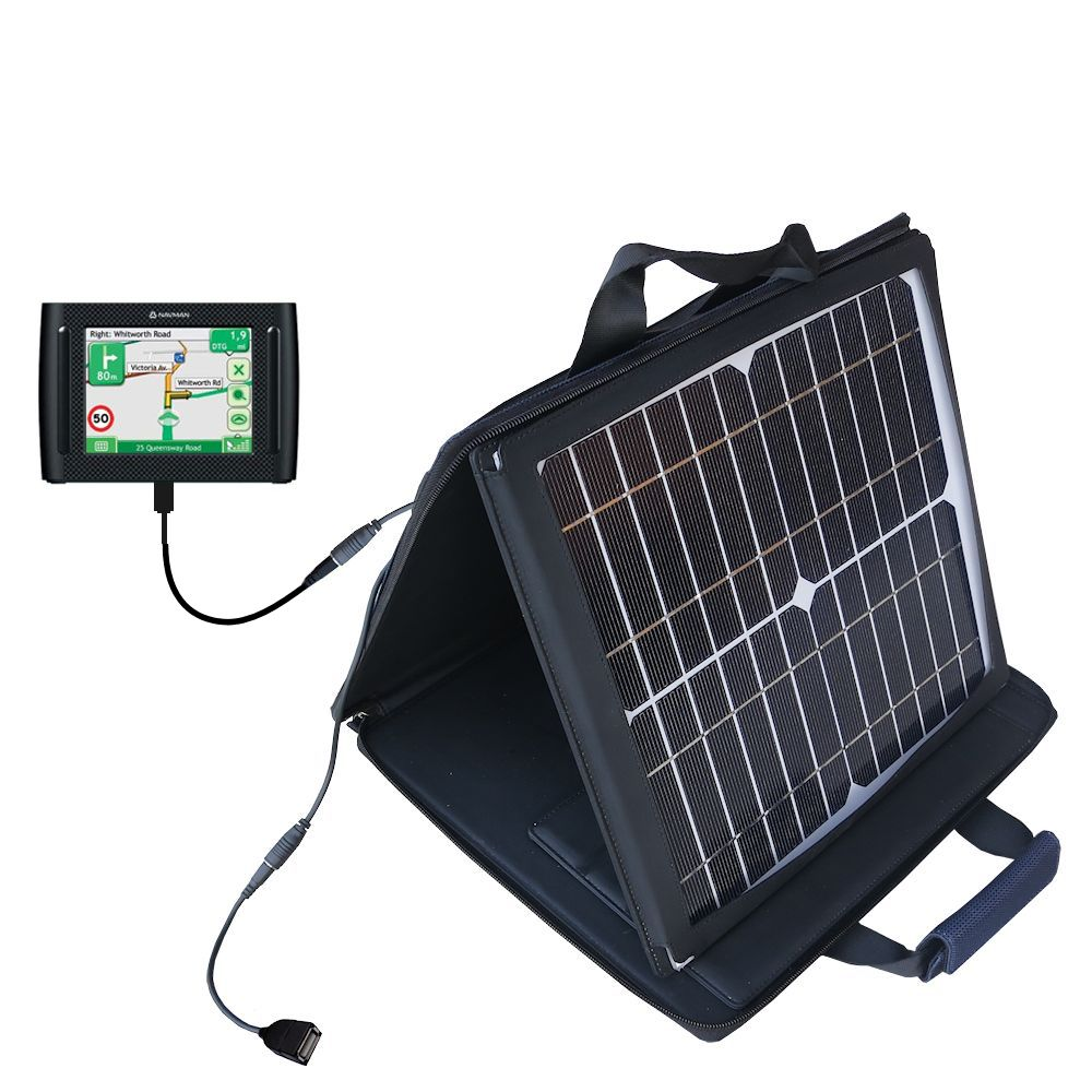 SunVolt Solar Charger compatible with the Navman F35 and one other device - charge from sun at wall outlet-like speed
