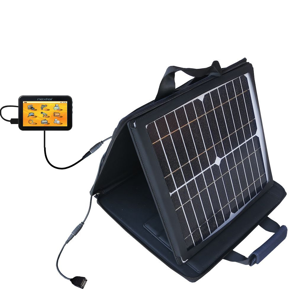 SunVolt Solar Charger compatible with the Nextar K40 and one other device - charge from sun at wall outlet-like speed