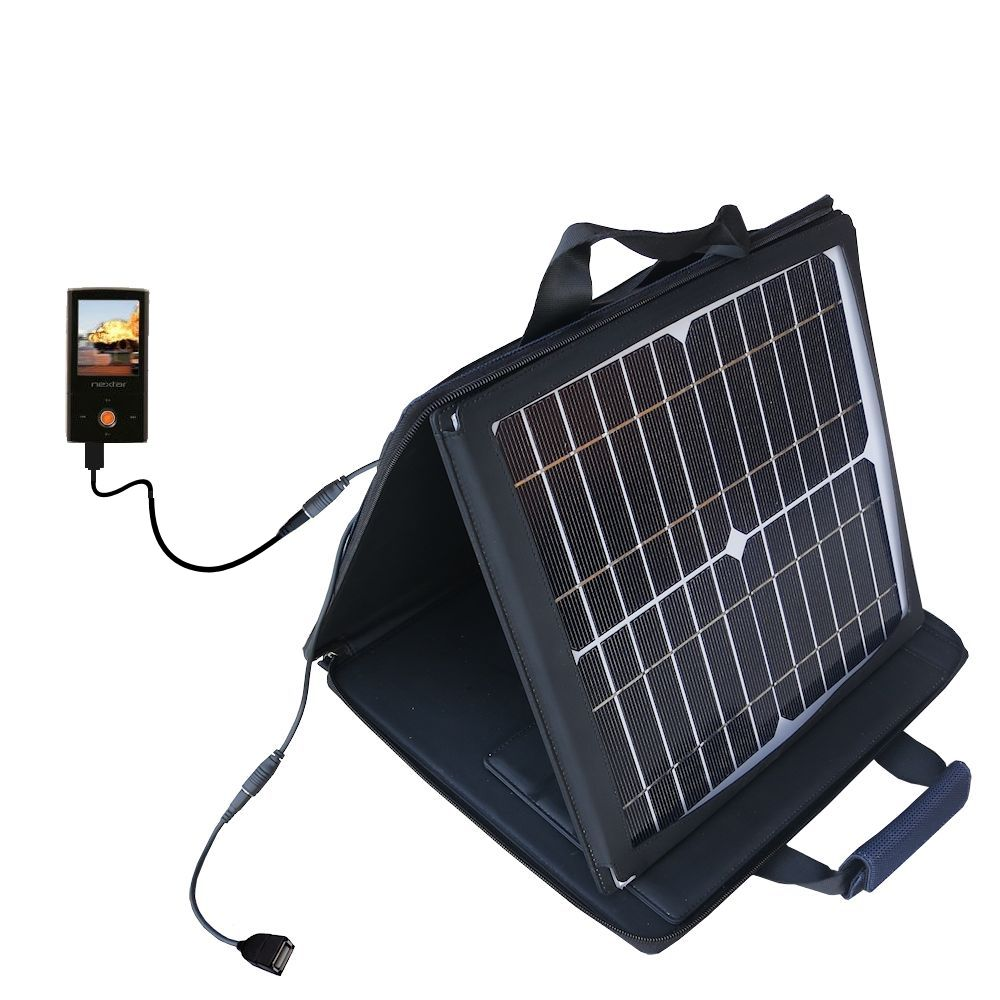 SunVolt Solar Charger compatible with the Nextar MA791 MA794 MA797 and one other device - charge from sun at wall outlet-like speed