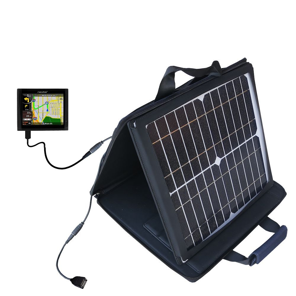 SunVolt Solar Charger compatible with the Nextar ME and one other device - charge from sun at wall outlet-like speed
