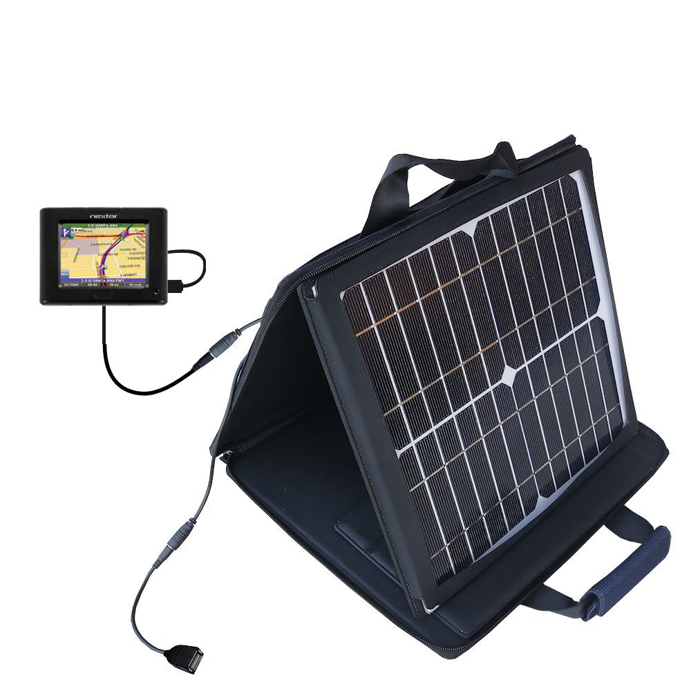 SunVolt Solar Charger compatible with the Nextar P3 and one other device - charge from sun at wall outlet-like speed