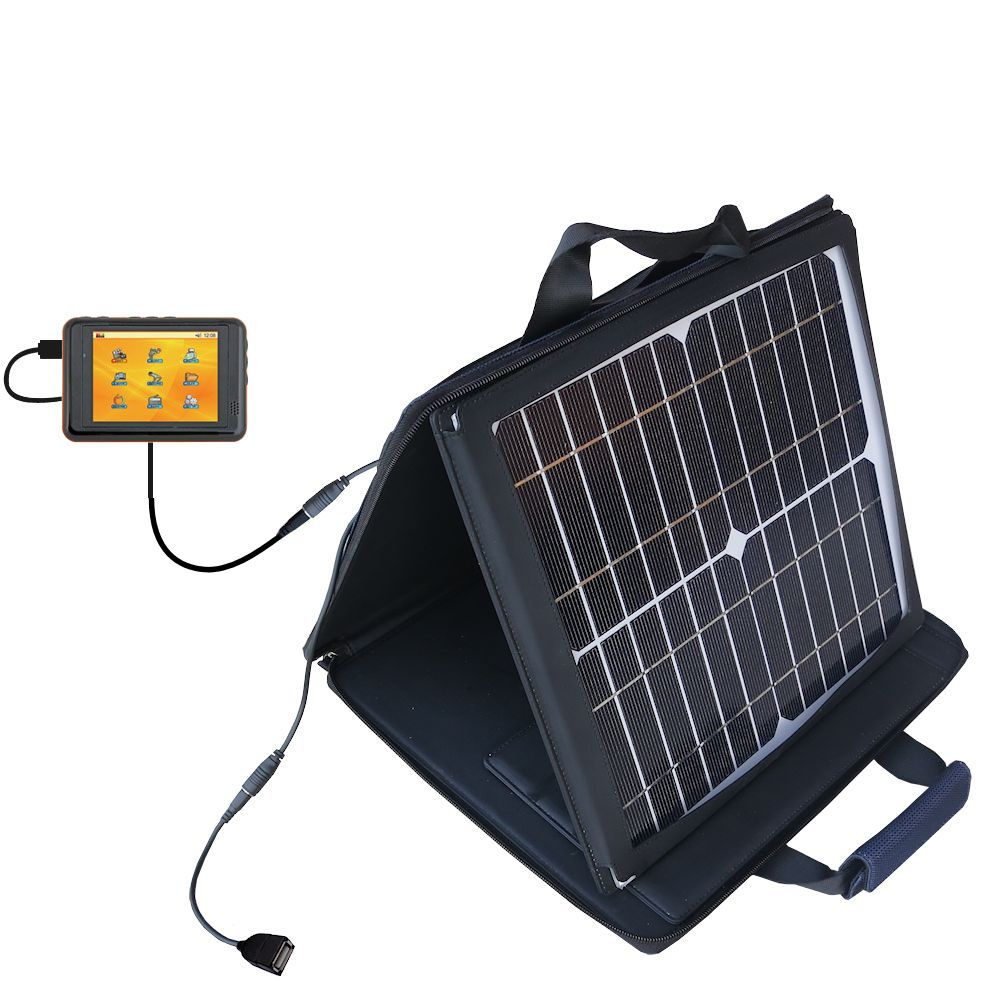 SunVolt Solar Charger compatible with the Nextar T30 and one other device - charge from sun at wall outlet-like speed