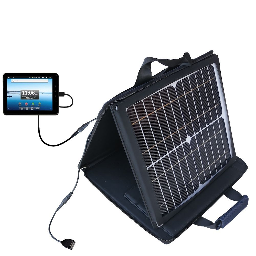 SunVolt Solar Charger compatible with the Nextbook Premium8 Tablet and one other device - charge from sun at wall outlet-like speed