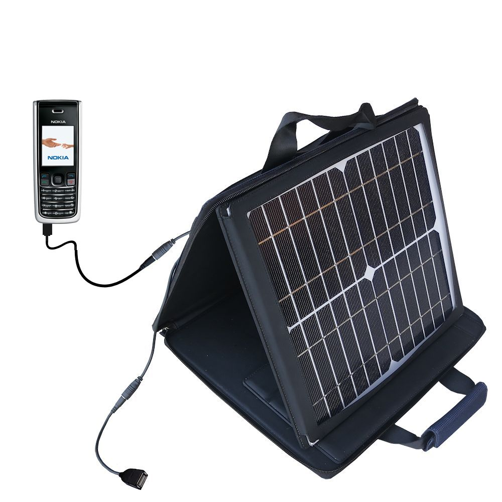 SunVolt Solar Charger compatible with the Nokia 2865i 3155i and one other device - charge from sun at wall outlet-like speed