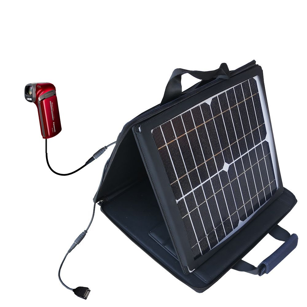 SunVolt Solar Charger compatible with the Panasonic HX-DC3 and one other device - charge from sun at wall outlet-like speed