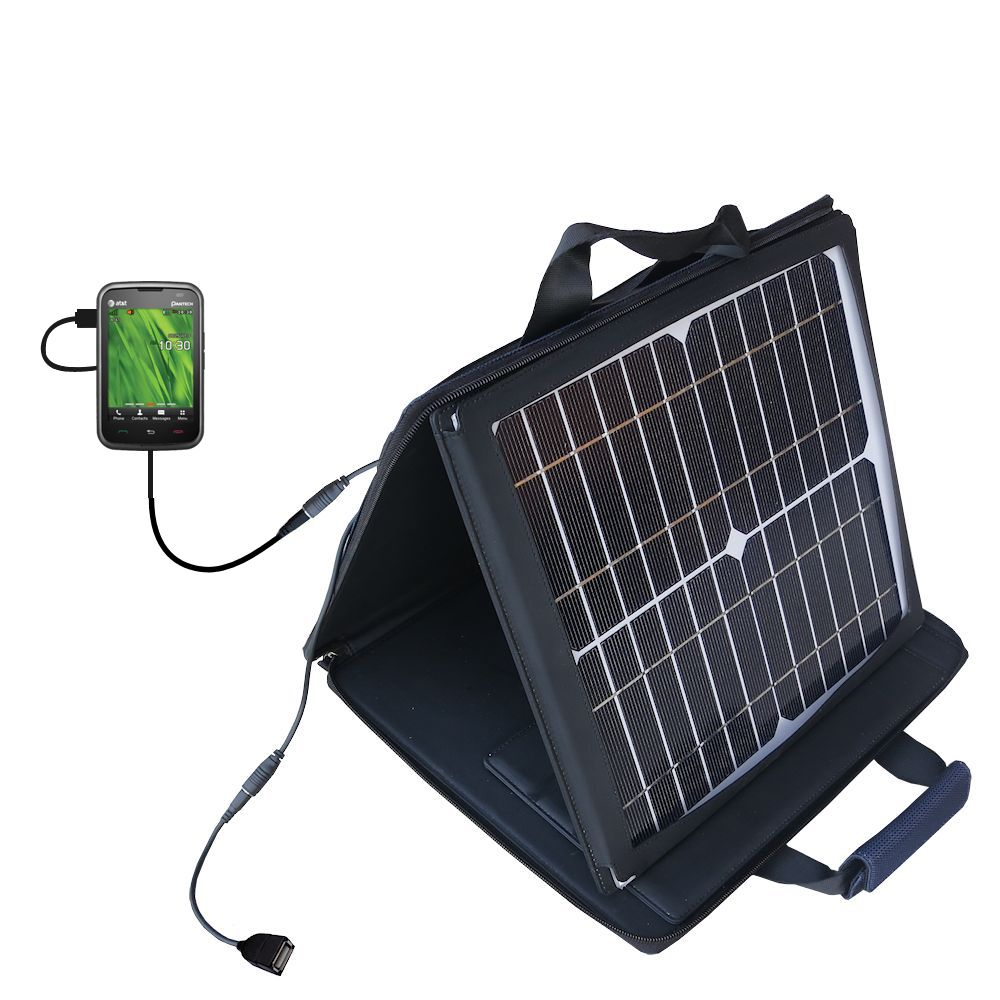 SunVolt Solar Charger compatible with the Pantech Renue and one other device - charge from sun at wall outlet-like speed