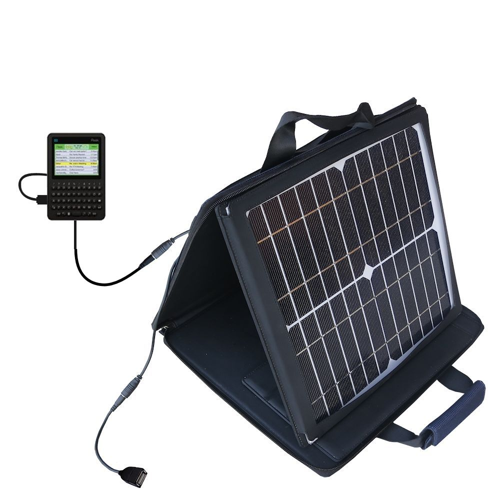 SunVolt Solar Charger compatible with the Peek GetPeek and one other device - charge from sun at wall outlet-like speed