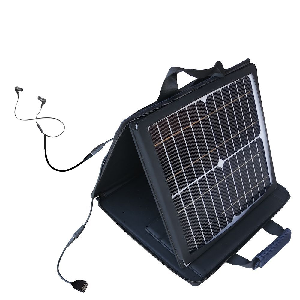 SunVolt Solar Charger compatible with the Plantronics BackBeat and one other device - charge from sun at wall outlet-like speed