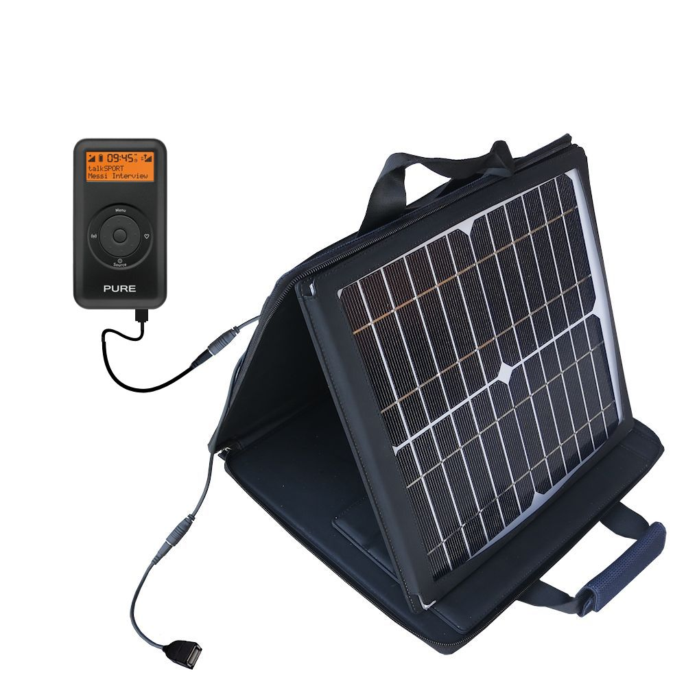 SunVolt Solar Charger compatible with the PURE Move 2500 and one other device - charge from sun at wall outlet-like speed