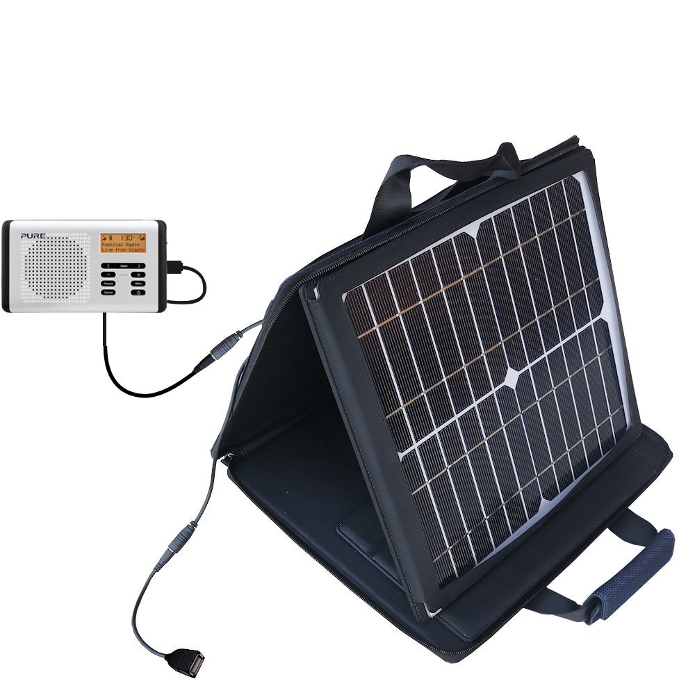 SunVolt Solar Charger compatible with the PURE Move 400D and one other device - charge from sun at wall outlet-like speed