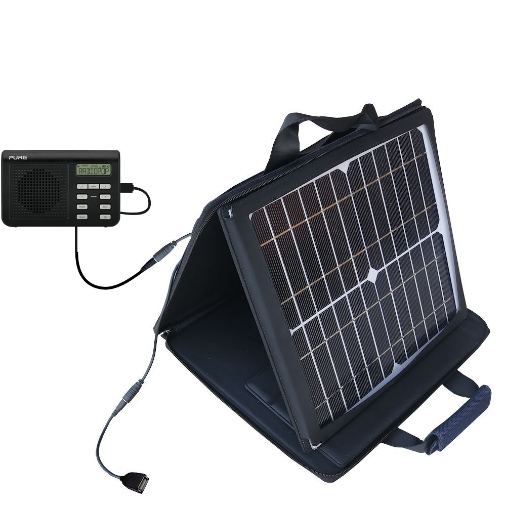SunVolt Solar Charger compatible with the PURE One Mi Series 2 and one other device - charge from sun at wall outlet-like speed