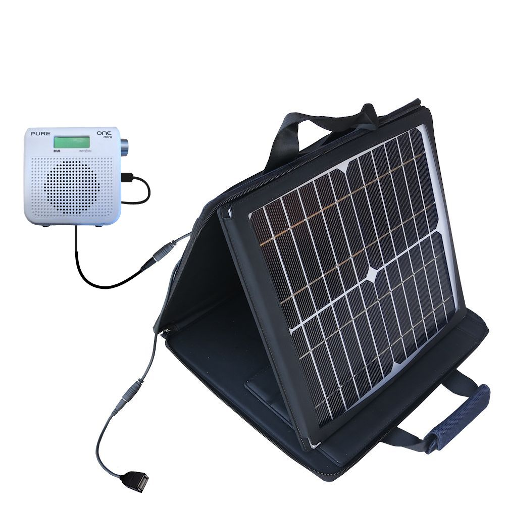 SunVolt Solar Charger compatible with the PURE One Mini Series 2 and one other device - charge from sun at wall outlet-like speed