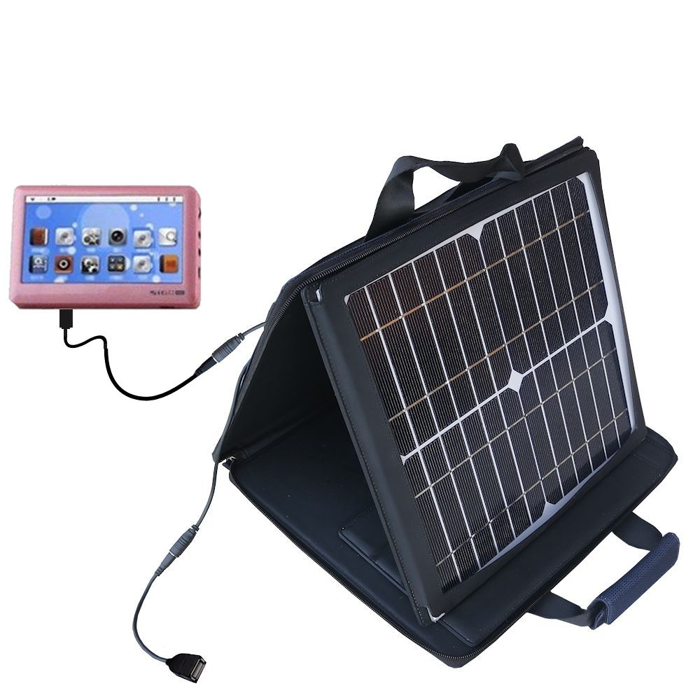 SunVolt Solar Charger compatible with the Pyrus Electronics Sigo and one other device - charge from sun at wall outlet-like speed