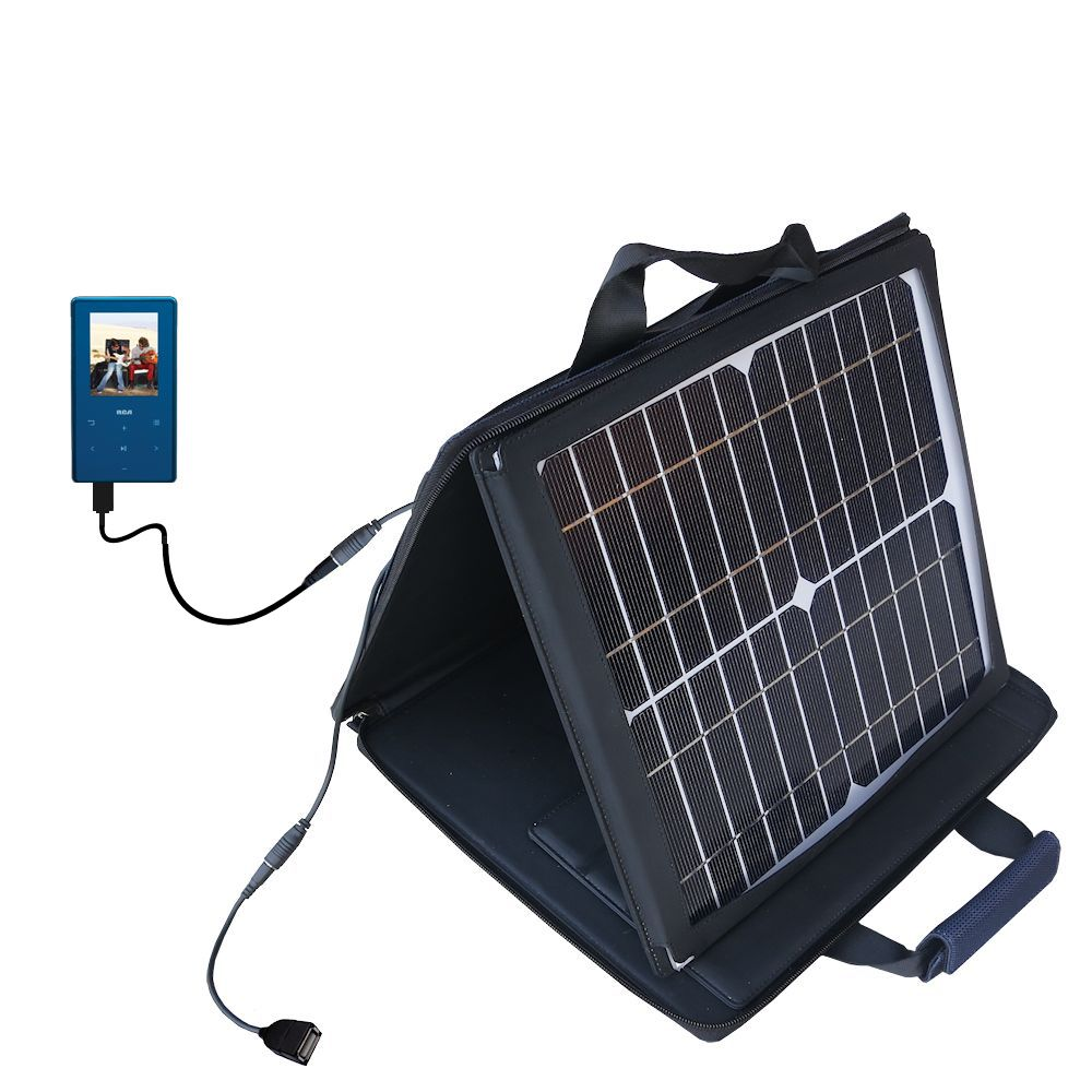 SunVolt Solar Charger compatible with the RCA M6308 and one other device - charge from sun at wall outlet-like speed