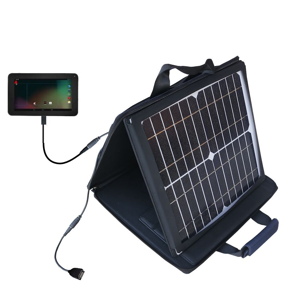 SunVolt Solar Charger compatible with the RCA RCT6103W46 and one other device - charge from sun at wall outlet-like speed