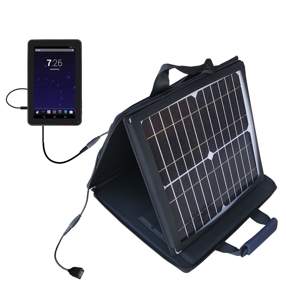 SunVolt Solar Charger compatible with the RCA RCT6691W3 and one other device - charge from sun at wall outlet-like speed