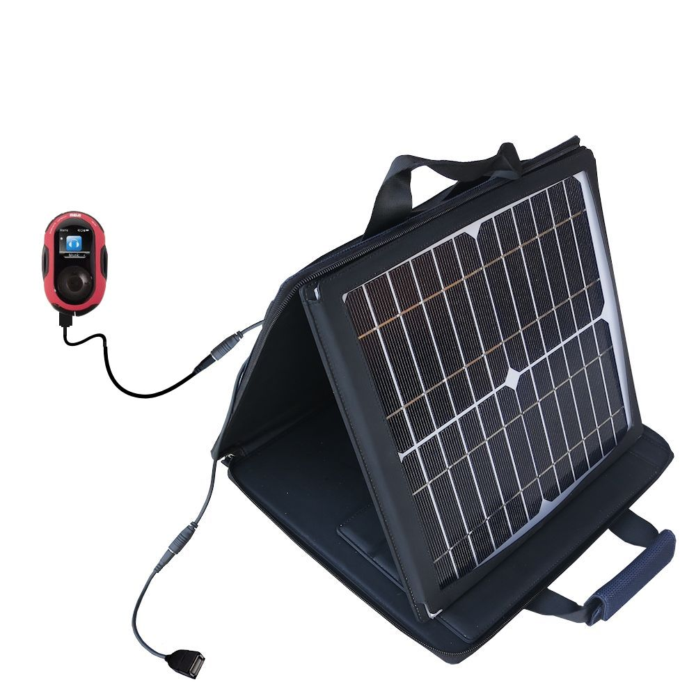 SunVolt Solar Charger compatible with the RCA SC2204 JET Digital Audio Player and one other device - charge from sun at wall outlet-like speed