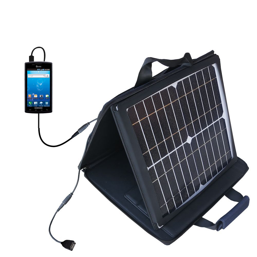SunVolt Solar Charger compatible with the Samsung Captivate and one other device - charge from sun at wall outlet-like speed
