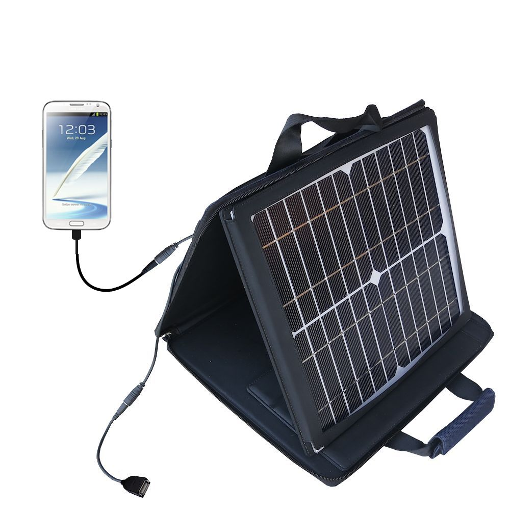 SunVolt Solar Charger compatible with the Samsung Galaxy Note 3 / Note III and one other device - charge from sun at wall outlet-like speed
