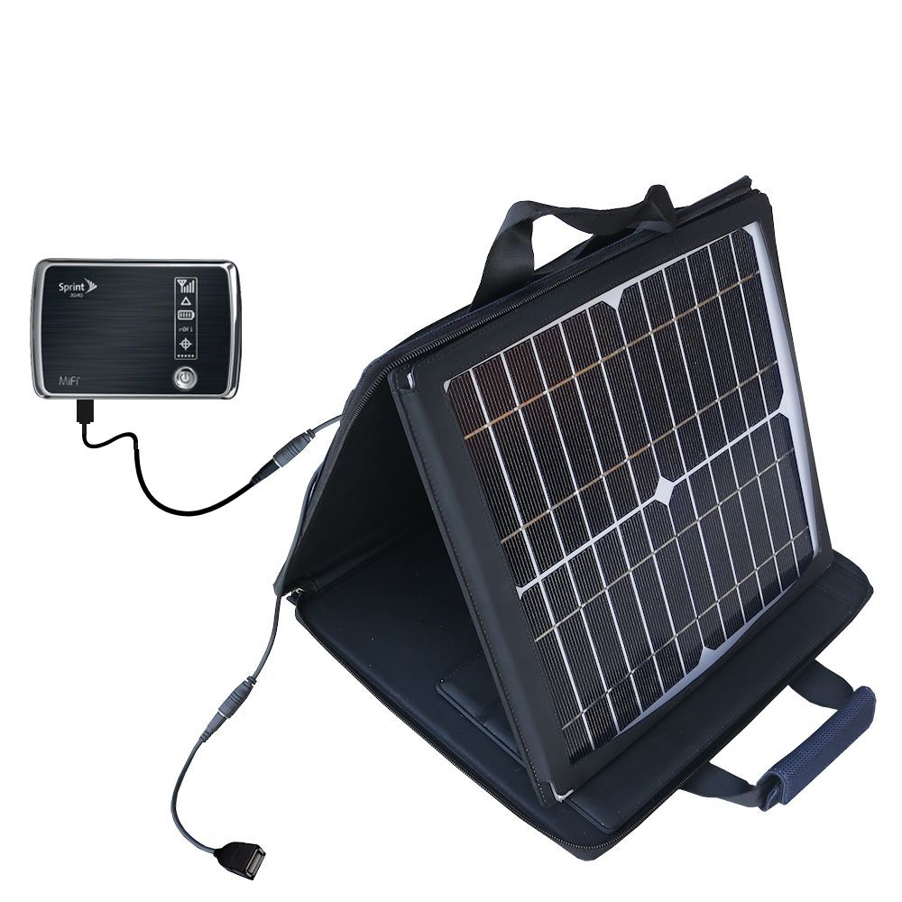 SunVolt Solar Charger compatible with the Sprint 3G/4G Mobile Hotspot and one other device - charge from sun at wall outlet-like speed