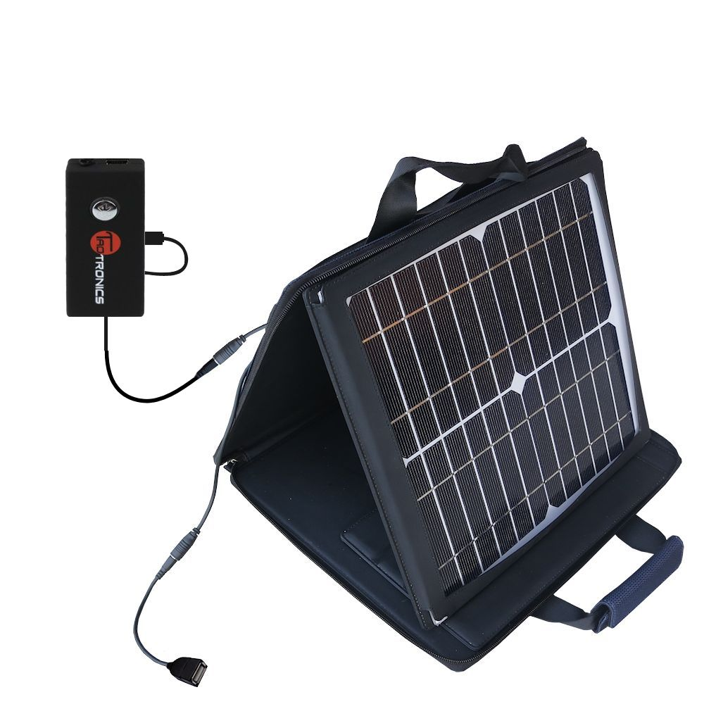 SunVolt Solar Charger compatible with the TaoTronics TT-BA01 and one other device - charge from sun at wall outlet-like speed