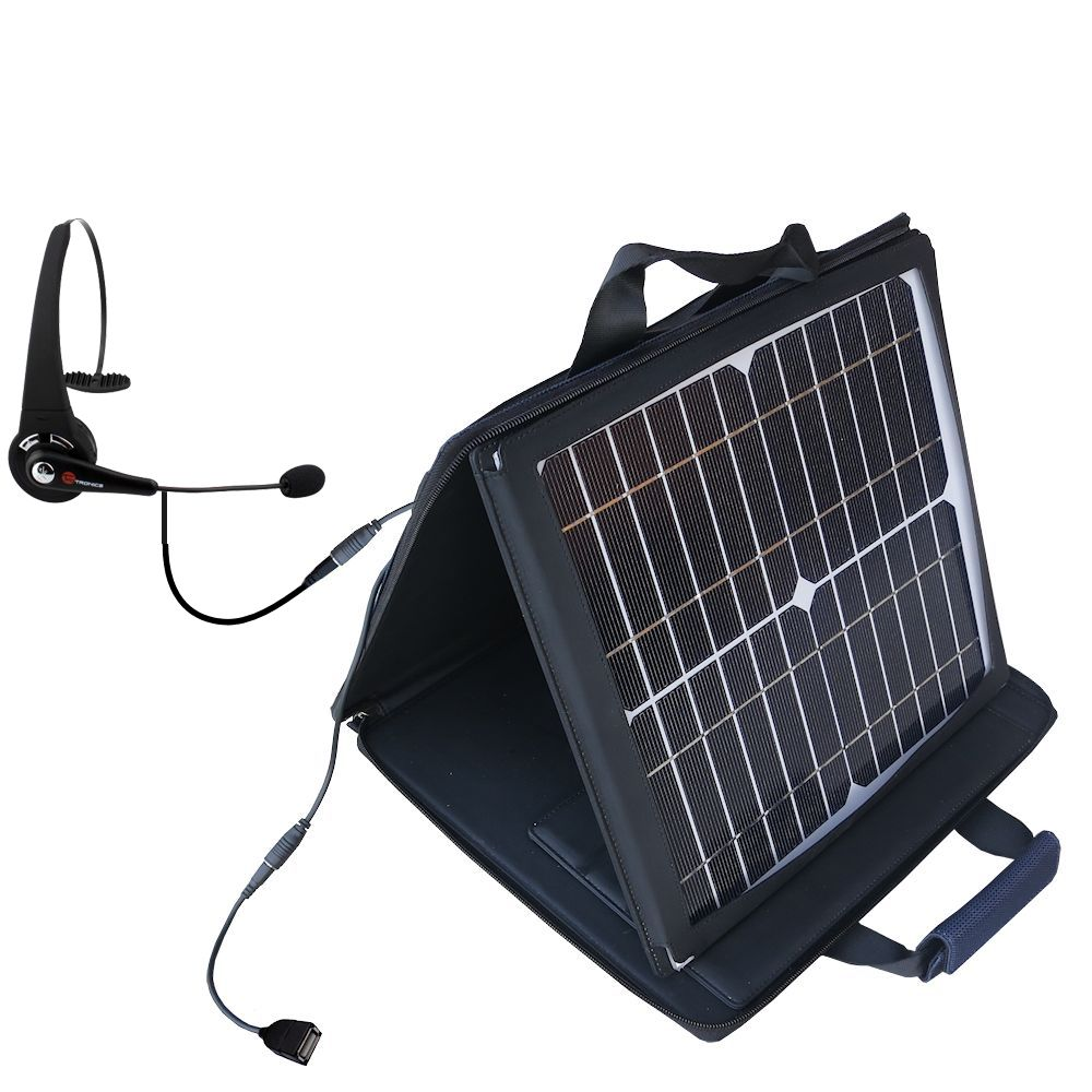 SunVolt Solar Charger compatible with the TaoTronics TT-BH01 / 02 / 03 and one other device - charge from sun at wall outlet-like speed