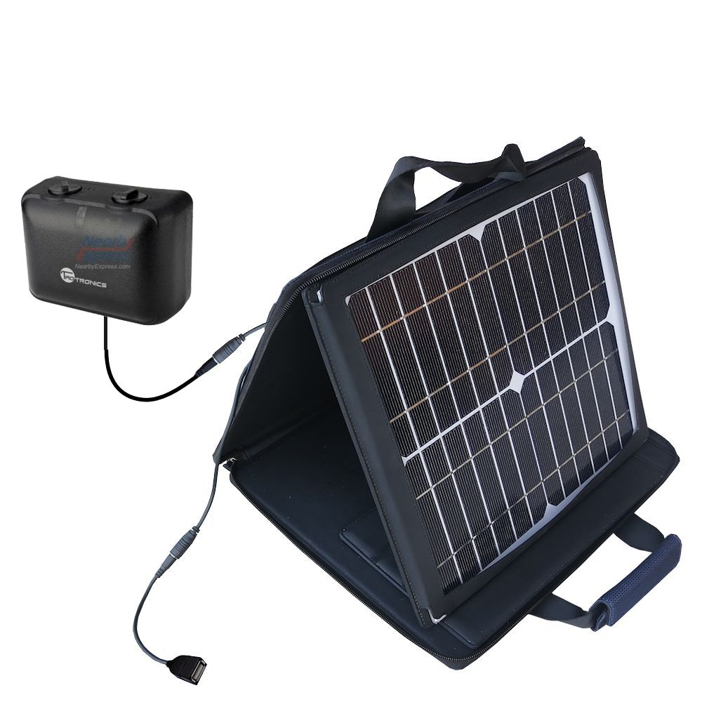 SunVolt Solar Charger compatible with the TaoTronics TT-PT06 and one other device - charge from sun at wall outlet-like speed