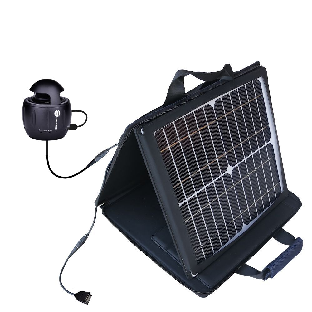 SunVolt Solar Charger compatible with the TaoTronics TT-SK01 and one other device - charge from sun at wall outlet-like speed